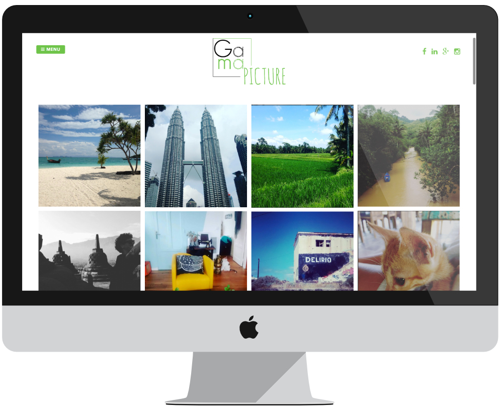 projet Gama Pictures - Wordpress - Grand Ecran