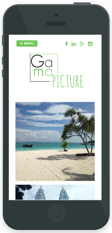projet Gama Pictures - Wordpress - mobile