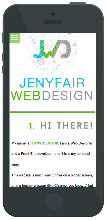 project Jenyfair WebDesign - JQuery Parallax- Screen mobile
