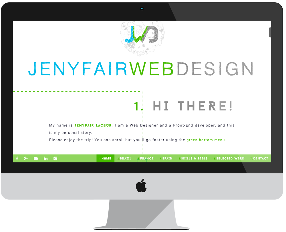 project Jenyfair WebDesign - JQuery Parallax - Big screen 1