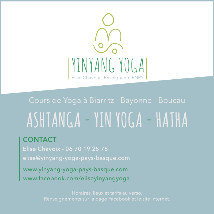 project YinYang Yoga Bask Country - visual identity - flyer 3